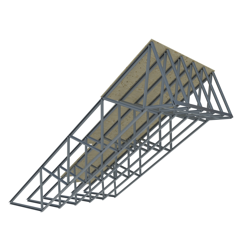 Fermes de toit en acier léger